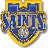 Chenille Saints with Tower mascot patch