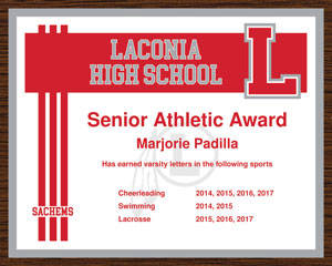 Template-3-10x8-01 Edible Varsity Letter Certificate Template on